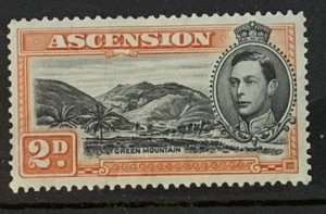 ASCENSION 1938 2d SG41 P13.5 MOUNTED MINT CAT £11