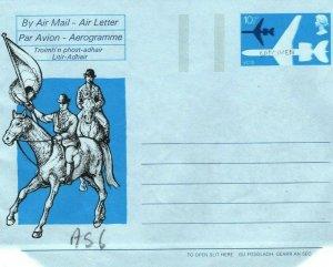 GB SCOTLAND Traditions VC10 Air Letter *SPECIMEN* 1976 HORSES HARP MA405