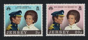 Jersey Royal Wedding Princess Anne 2v SG#97-98