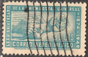 MEXICO C204, 80¢ 75th Ann of Universal Postal Union Used. F-VF. (945)