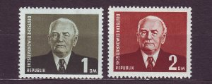 J23569 JLstamps 1953 germany DDR set mh #120-1 pieck perf 13 x 13 1/2