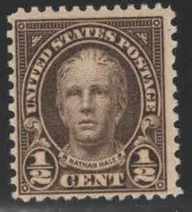 USA Scott 551 MNH** 1/2 cent Nathan Hale stamp
