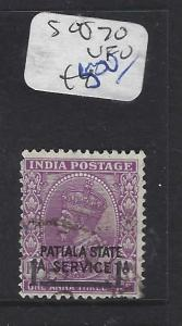 INDIA PATIALA  (P1012B) KGV 1A/ 1A 3P  SERVICE  SG O70   VFU