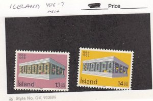 J25787  jlstamps 1969 iceland  set mnh #406-7 europa checked for condition