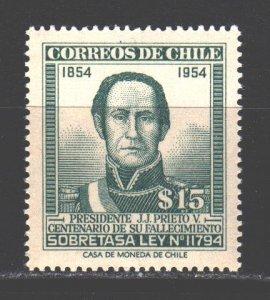 Chile. 1957. 1. Joaquin Prieto President of Chile. MNH.