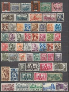 COLLECTION LOT OF #1134  SAAR 57 STAMPS 1921+