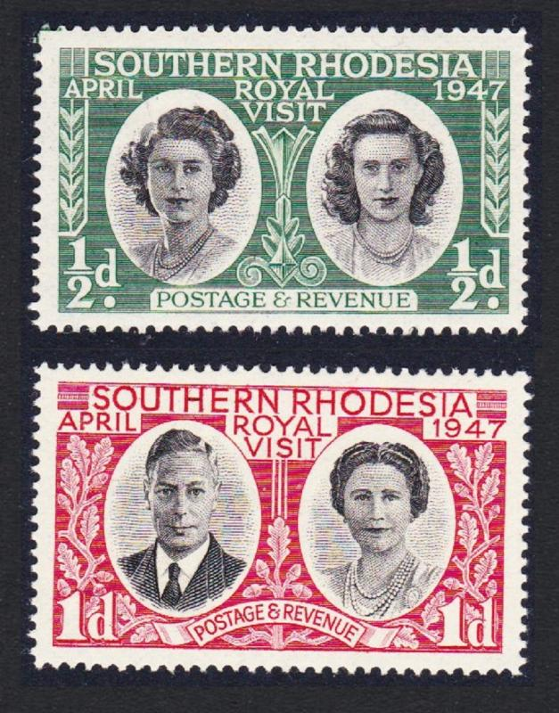 S. Rhodesia Royal Visit 1947 2v Mixed SG#63/63