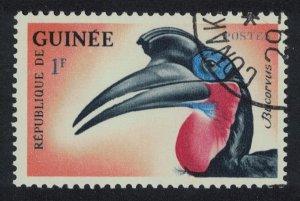 Guinea Abyssinian ground hornbill Bird 1f 1961 Canc SG#351