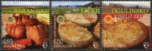 Croatia 2020. Croatian Foods with Designated Origin Protection (MNH OG) Set