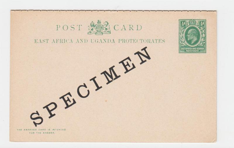 KUT BRITISH 1903 ½a SPECIMEN REPLY PAID POST CARD, UNUSED H&G#3(SEE BELOW)