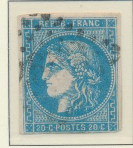 France Stamp Scott #45, Used - Free U.S. Shipping, Free Worldwide Shipping Ov...