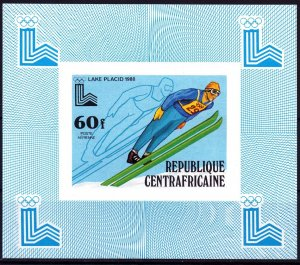 Central African Republic. 1979. luxury bl632. OI in Lake Placid. MNH.