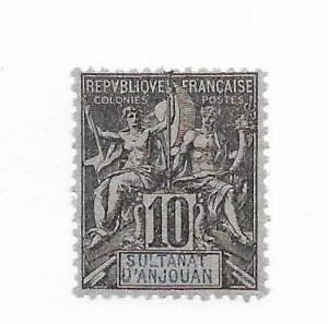 Anjouan #5 MH - Stamp - CAT VALUE $10.50
