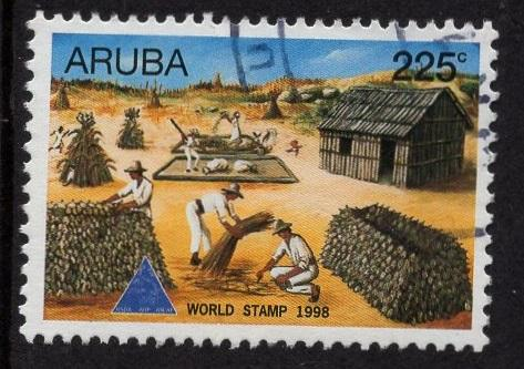 Aruba   #166   used  1998  world stamp