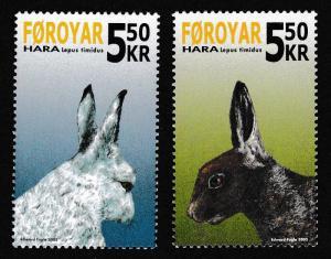 Faroe Is. Snow Hare 2v SG#475-476 SC#454-455