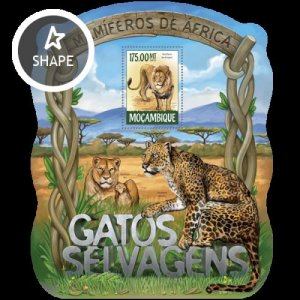 Mozambique MNH S/S Wild Cats Wildlife 3015