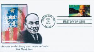 SC 4866, 2014 Ralph Ellison, FDC, 91 Cents, Item 14-032