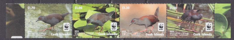 2014 Cook Islands 1997-2000strip WWF / Birds 10,00 €