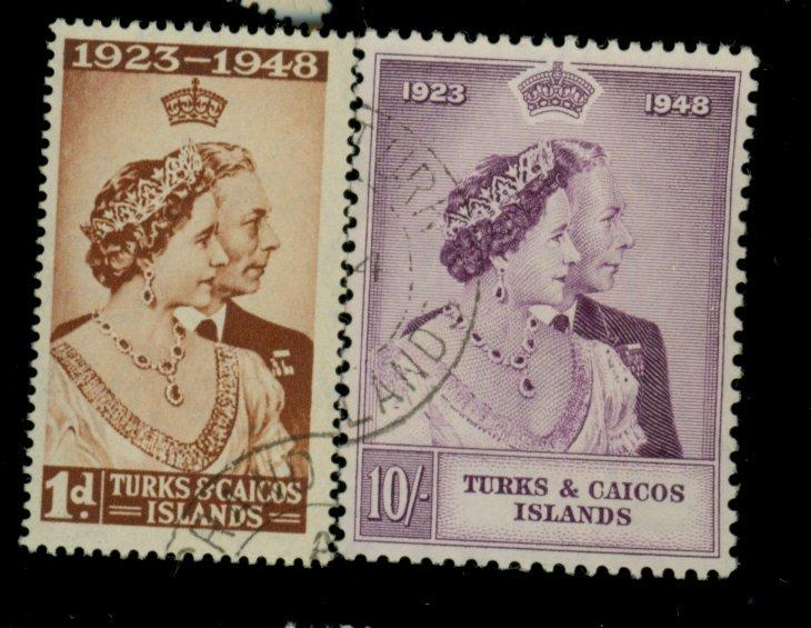 Turks and Caicos is #92-3 Used VF Cat$19.30