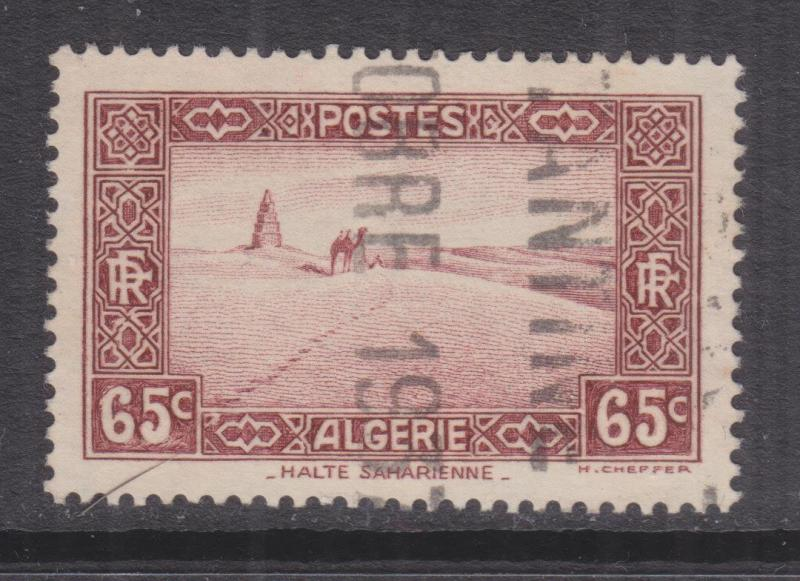 ALGERIA, 1936 65c. Red Brown, used.
