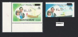 Montserrat Error Ovpt on $3 1983 MNH SG#584f