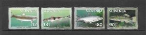 FISH - SLOVENIA #287-90  MNH