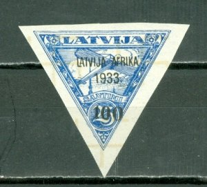 LATVIA 1933 AIR OVPT . #C13 IMPERF. WM 212 MNH...FORGERY?