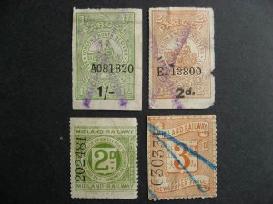 Great Britain revenues Midland, North Western Railway, used, but all have faults