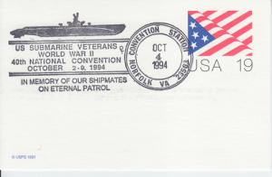 1994 50th Anniversary WWII Norfolk VA Flag PC Pictorial