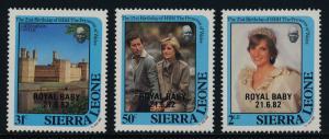 Sierra Leone 552-4 MNH Princess Diana 21st Birthday, Royal Baby o/p