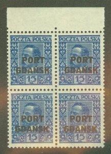 A: Poland 1K23 MNH block of 4 CV $80