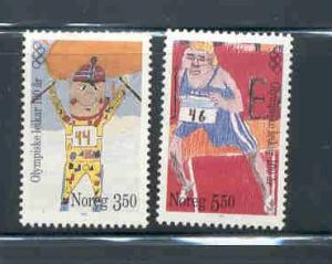 Norway Sc 1117-8 1996 100 yrs Olympics stamp set