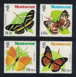 Montserrat Butterflies 4v 1981 MNH SG#486-489