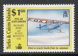 Turks and Caicos 898 Airplane MNH VF