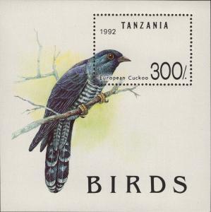 Tanzania MNH S/S European Cuckoo Bird 1992