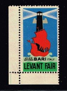 ITALY STAMP BARI LEVANT FAIR MNH/OG STAMP MNH/OG