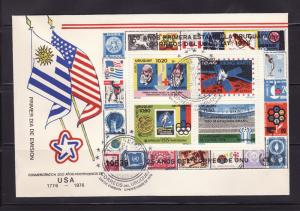 Uruguay C426 FDC American Bicentennial