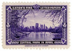 (I.B) US Cinderella : Eaton's Fine Letter Papers (Central Park)