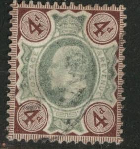 Great Britain Scott 133 KEVII 1902 4p stamp CV $35