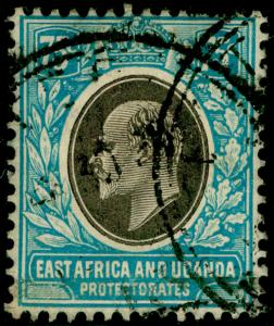 EAST AFRICA and UGANDA SG42, 75c grey & pale blue, USED. Cat £45.