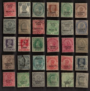 30 CHAMBA (INDIAN STATE) Stamps