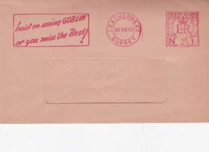 GB 1960 2d Goblin Slogan Metered Post Cover VGC