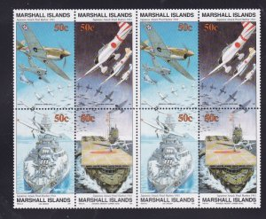 Marshall Islands 288-291, Block of 8, MNH -Pearl Harbor