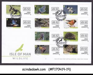 ISLE OF MAN - 2019 WILDLIFE / WILD ANIMALS - 10V FDC