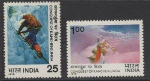 INDIA SG874/5 1978 CONQUEST OF KANCHENJUNGA(1977) MNH