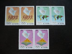 Stamps - Cuba - Scott# 3577-3579 - MNH Set of 3 stamps in Pairs
