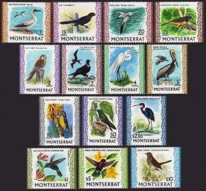 Montserrat 231-243A,MNH.Birds 1970-1974:Booby,Killy hawk,Frigate-bird,Egret,Ani,