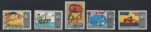 Netherlands Sc B402-6 1965 Child Welfare stamp set used