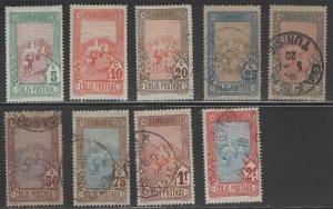 Tunis Tunisia Scott Q1-Q9  parcel post 1906  short set 9/10
