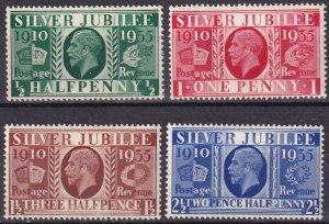 Great Britain #226-9 MNH CV $9.50 (Z7892)